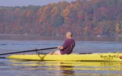 "Budd Glassberg in his Boat ""Rows Budd"""